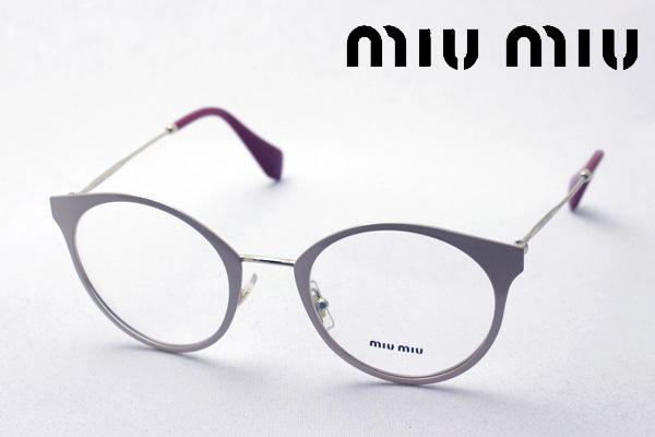 4月5日(金)23時59分終了 ほぼ全品ポイント20倍+5倍+2倍 【ミュウミュウ メガネ 正規販売店】 miumiu MU51PV UST1O1 伊達メガネ 度付き ブルーライト カット 眼鏡 miumiu ラウンド