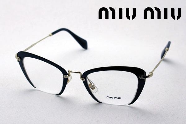 金曜朝9時59分終了 ほぼ全品がポイント15~20倍 【ミュウミュウ メガネ 正規販売店】 miumiu MU54OV 1AB1O1 伊達メガネ 度付き ブルーライト ブルーライトカット 眼鏡 miumiu フォックス