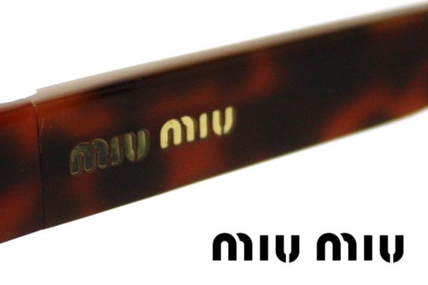 SALE特価  ミュウミュウ メガネ MU60FV 7OE1O1 伊達メガネ 度付き ブルーライト ブルーライトカット 眼鏡 miumiu ケースなし シェイプ