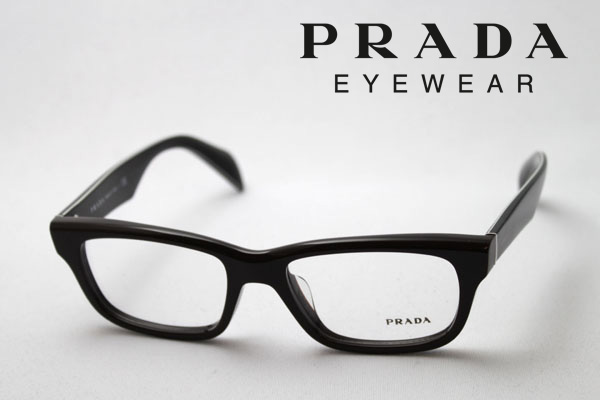 今夜23時59分終了 ほぼ全品がポイント15~20倍 【プラダ メガネ 正規販売店】 PRADA PR11QVF DHO1O1 伊達メガネ 度付き ブルーライト ブルーライトカット 眼鏡 DEAL スクエア