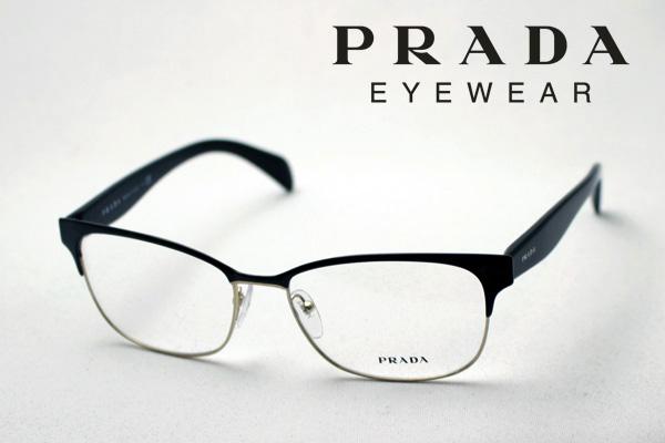 今夜23時59分終了 ほぼ全品ポイント15倍+5倍+2倍のトリプルチャンス 【PRADA】 プラダ メガネ フレーム PR65RV QE31O1 メタル 伊達メガネ 度付き ブルーライト ブルーライトカット 眼鏡 ブロー