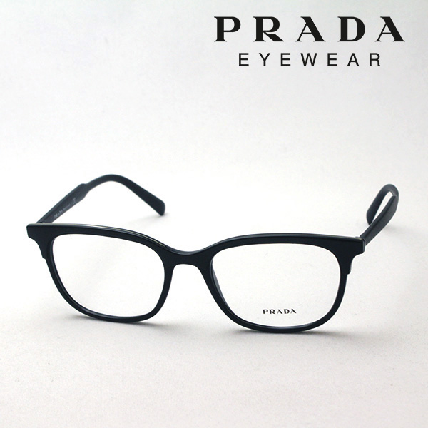 NewModel 4月5日(金)23時59分終了 ほぼ全品ポイント20倍+5倍+2倍 【プラダ メガネ正規販売店】 Made In Italy PRADA PR05VV 2641O1 伊達メガネ 度付き ブルーライト カット 眼鏡 スクエア