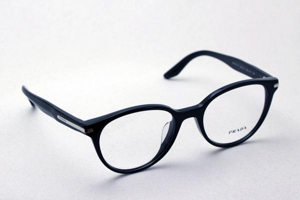 明日の朝9時59分終了 ほぼ全品20~25%ポイントバック  プラダ メガネ フレーム PR07TVF 1AB1O1 丸 メガネ 伊達メガネ 度付き ブルーライト ブルーライトカット 眼鏡 ジャーナル JOURNAL CONCEPTUAL フォックス
