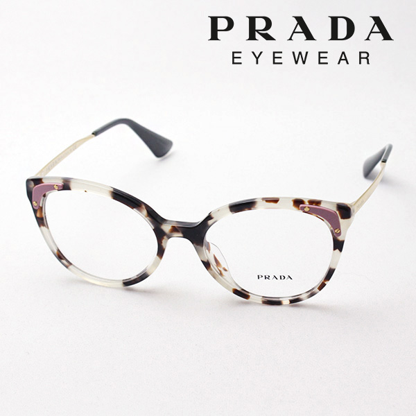 明日の朝9時59分終了 ほぼ全品がポイント15~20倍 【プラダ メガネ正規販売店】 PRADA NewModel PR12UVF UAO1O1 伊達メガネ 度付き ブルーライト ブルーライトカット 眼鏡 シネマ CINEMA CATWALK Made In Italy ボストン