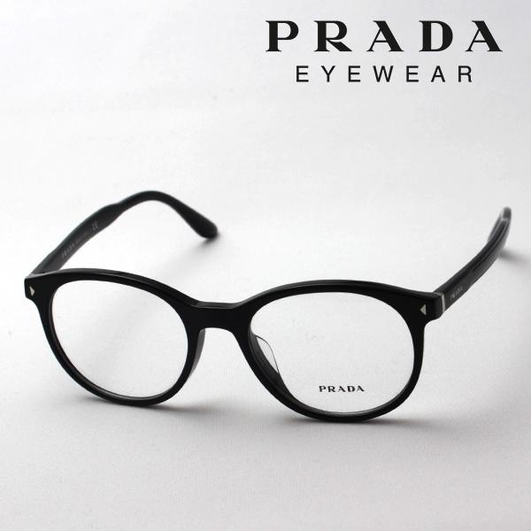 今夜23時59分終了 ほぼ全品がポイント15~20倍 【プラダ メガネ正規販売店】 PRADA NewModel PR14TVF 1AB1O1 丸 メガネ 伊達メガネ 度付き ブルーライト ブルーライトカット 眼鏡 フォックス