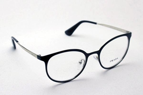 明日の朝9時59分終了 ほぼ全品20~25%ポイントバック  プラダ メガネ フレーム PR53TV 1AB1O1 丸 メガネ メタル 伊達メガネ 度付き ブルーライト ブルーライトカット 眼鏡 シネマ CINEMA CATWALK フォックス