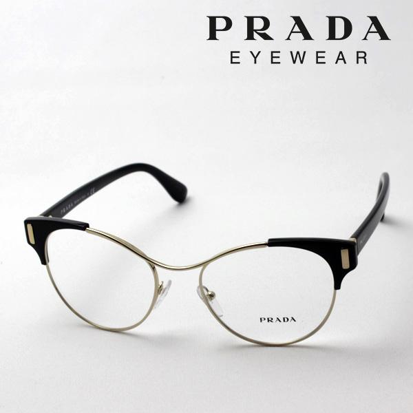 今夜23時59分終了 ほぼ全品がポイント15~20倍 【プラダ メガネ正規販売店】 PRADA NewModel PR61TV 1AB1O1 伊達メガネ 度付き ブルーライト ブルーライトカット 眼鏡 Made In Italy フォックス