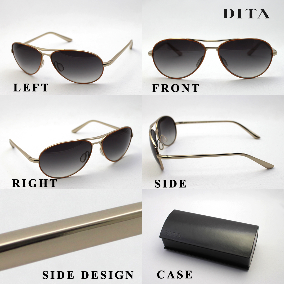 DITA DITA sunglasses DITA7803D FLIGHT. S Teardrop Aviator uv cut glma new stock