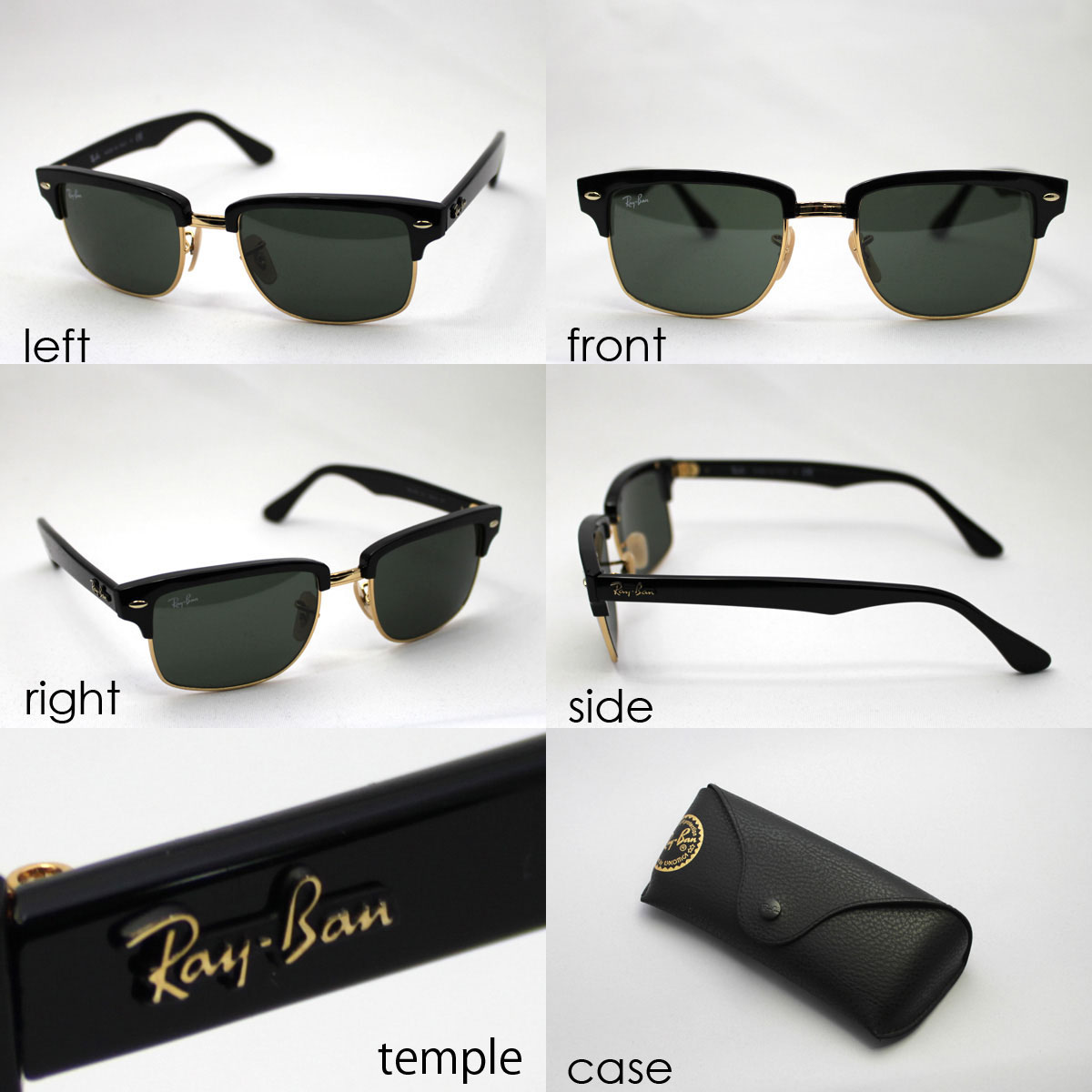 55135d801b ... shopping rb4190 601 rayban ray ban sunglasses squared club master  glassmania squared clubmaster sunglasses 64134 7d0bf ...