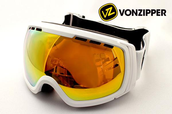 【VON ZIPPER 】 AE21M-704 WFC ボンジッパー ゴーグル DEAL フィーナン ジャパンフィット FEENOM JAPAN FIT 球面 ホワイト系 ミラー レディース メンズ シェイプ