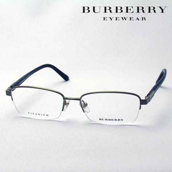 大ヒットモデル 4月7日(日)23時59分終了 ほぼ全品ポイント20倍 【バーバリー メガネ 正規販売店】 BURBERRY BE1288TD 1002 伊達メガネ 度付き ブルーライト カット 眼鏡 ハーフリム