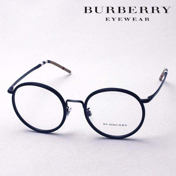 大ヒットモデル 4月7日(日)23時59分終了 ほぼ全品ポイント20倍 【バーバリー メガネ 正規販売店】 BURBERRY BE1326D 1007 伊達メガネ 度付き ブルーライト カット 眼鏡 Made In Italy ラウンド