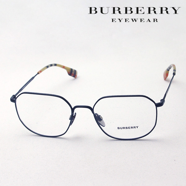NewModel 【バーバリー メガネ 正規販売店】 BURBERRY BE1335 1007 伊達メガネ 度付き ブルーライト カット 眼鏡 Made In Italy スクエア