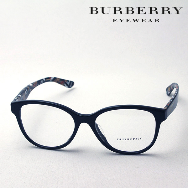 NewModel 4月8日(月)23時59分終了 ほぼ全品ポイント20倍+2倍 【バーバリー メガネ 正規販売店】 BURBERRY BE2278F 3735 伊達メガネ 度付き ブルーライト カット 眼鏡 Made In Italy ラウンド