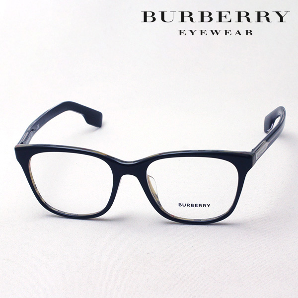NewModel 4月7日(日)23時59分終了 ほぼ全品ポイント20倍 【バーバリー メガネ 正規販売店】 BURBERRY BE2284F 3764 伊達メガネ 度付き ブルーライト カット 眼鏡 Made In Italy スクエア