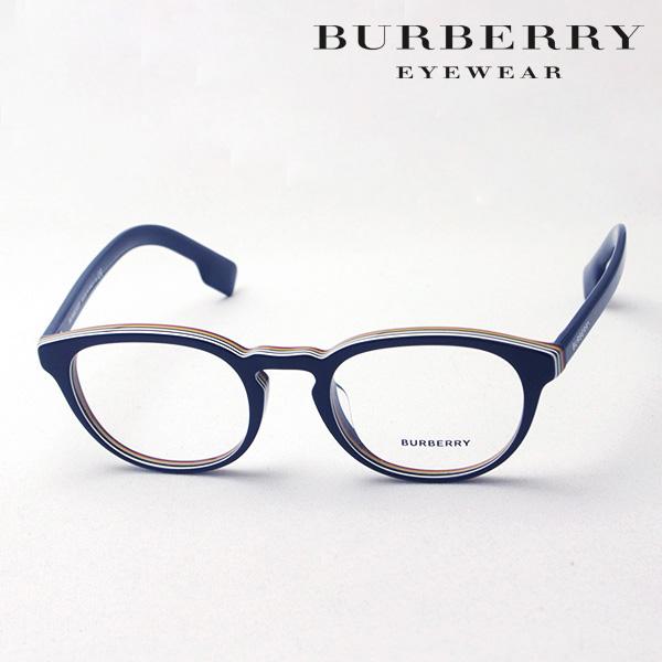 NewModel 【バーバリー メガネ 正規販売店】 BURBERRY BE2293F 3799 伊達メガネ 度付き ブルーライト カット 眼鏡 Made In Italy ラウンド