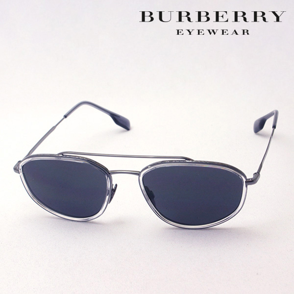 NewModel 4月7日(日)23時59分終了 ほぼ全品ポイント20倍 【バーバリー サングラス 正規販売店】 BURBERRY BE3106 100387 Made In Italy スクエア