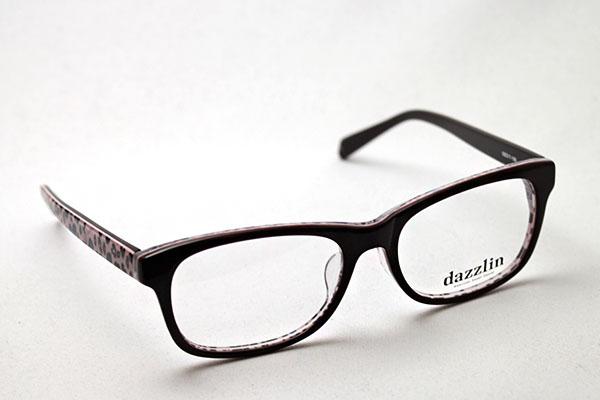 DZF-2508-2 dazzlin ダズリン メガネ 伊達メガネ 度付き ブルーライト ブルーライトカット 眼鏡 DEAL ブラウン系 ウェリントン おしゃれ ウェリントン