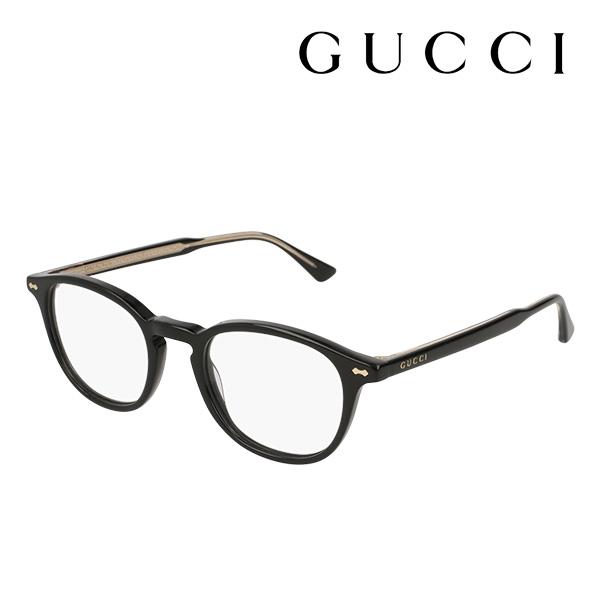 今夜23時59分終了 ほぼ全品がポイント15~20倍 【グッチ メガネ 正規販売店】 GUCCI アレッサンドロ・ミケーレデザイン GG0187O 001 伊達メガネ 度付き 眼鏡 DECORNESS Made In Italy ボストン