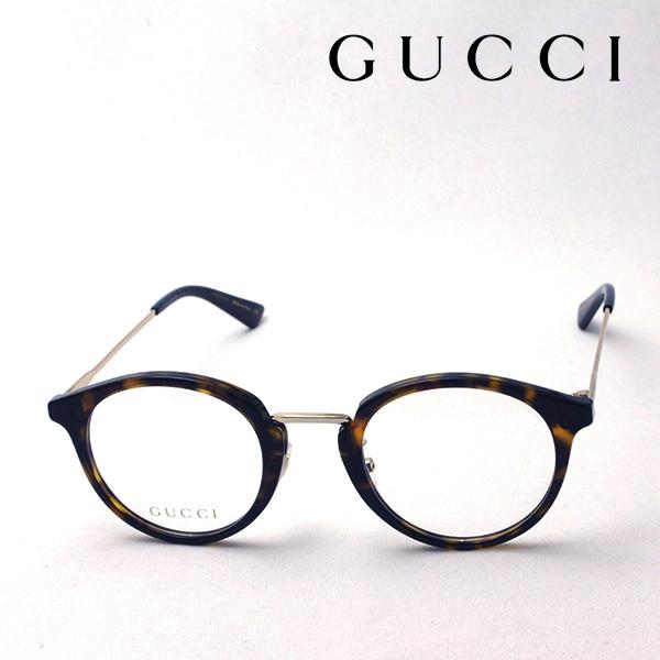 今夜23時59分終了 ほぼ全品がポイント15~20倍 【グッチ メガネ 正規販売店】 GUCCI 2018年モデル アレッサンドロ・ミケーレデザイン GG0322O 002 伊達メガネ 度付き 眼鏡 LIGHTNESS バンブルビー Made In Italy NewModel ラウンド