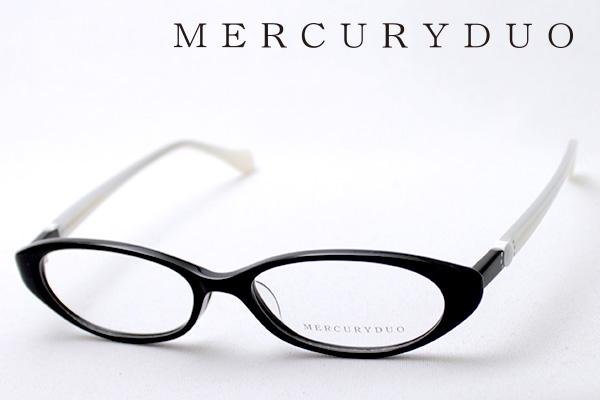 4月5日(金)23時59分終了 ほぼ全品ポイント20倍+5倍+2倍 【MERCURYDUO】 マーキュリーデュオ メガネ MDF-8009-1 伊達メガネ 度付き ブルーライト カット 眼鏡 シェイプ