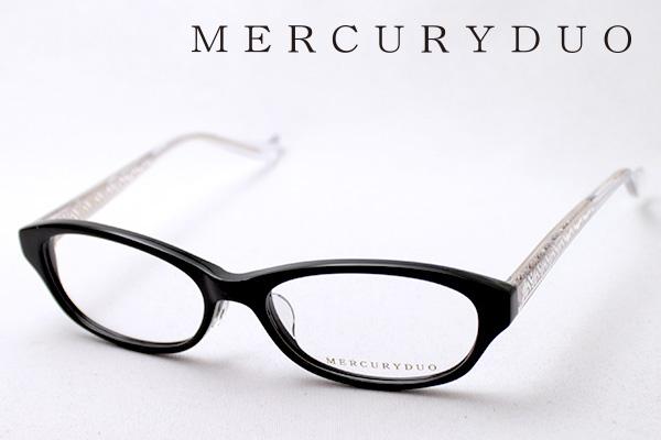 4月5日(金)23時59分終了 ほぼ全品ポイント20倍+5倍+2倍 【MERCURYDUO】 マーキュリーデュオ メガネ MDF-8012-1 伊達メガネ 度付き ブルーライト カット 眼鏡 シェイプ