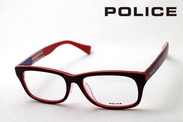 SALE特価 4月5日(金)23時59分終了 ほぼ全品ポイント20倍+5倍+2倍 【ポリス メガネ 正規販売店】 POLICE V1913J J61M 伊達メガネ 度付き ブルーライト カット 眼鏡 ウェリントン