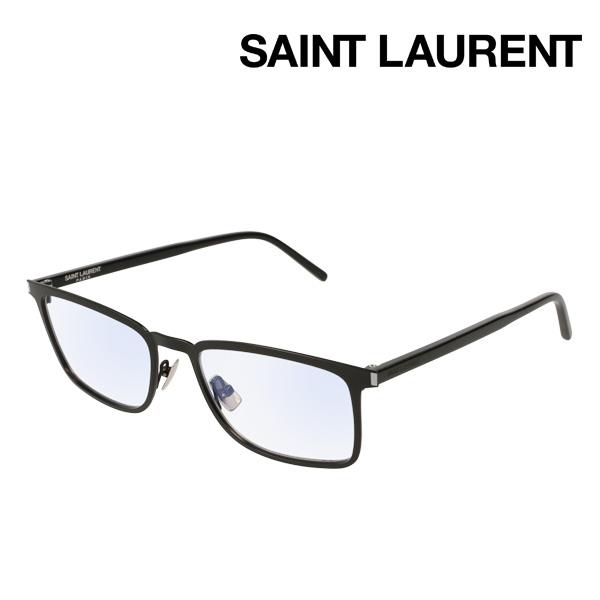 NewModel 4月7日(日)23時59分終了 ほぼ全品ポイント20倍 【サンローラン メガネ 正規販売店】 SAINT LAURENT SL226 001 サン ローラン 伊達メガネ 度付き ブルーライト カット 眼鏡 made In Italy スクエア