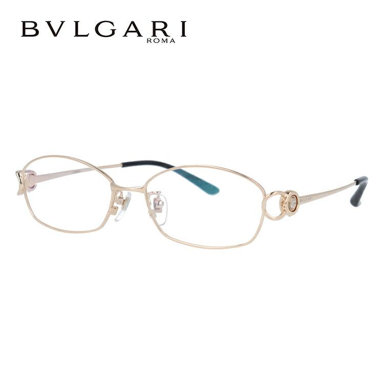 ブルガリ メガネ フレーム チタニウム BV2064TG 401 53 ゴールド 伊達メガネ 度付メガネ 日本製 ダイヤモンド使用 【BVLGARI】