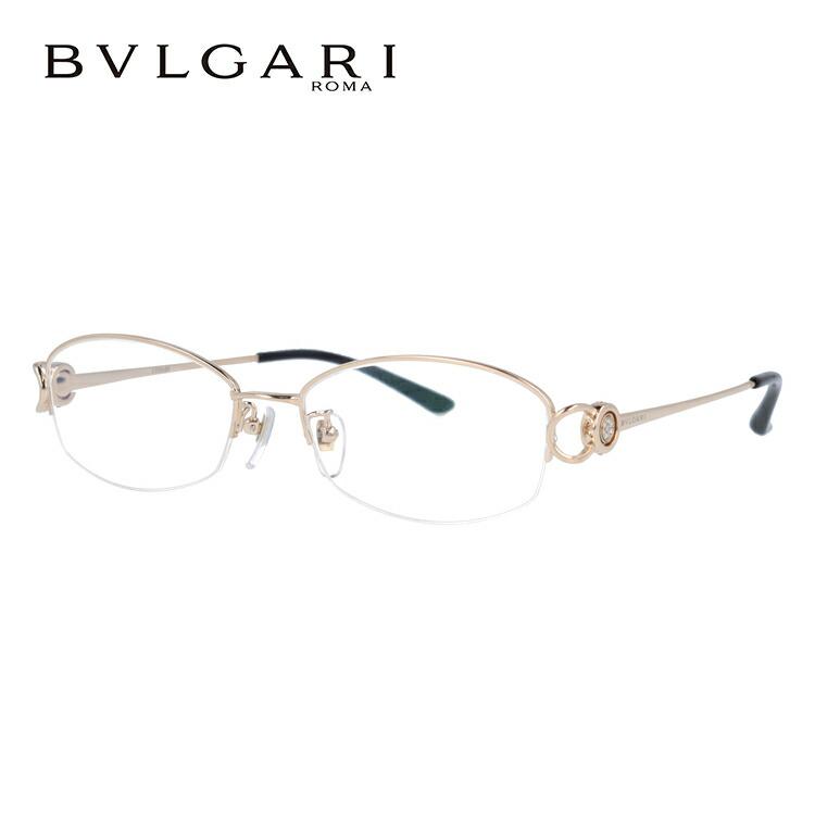 ブルガリ メガネ フレーム チタニウム BV2065TG 401 54 ゴールド 伊達メガネ 度付メガネ 日本製 ダイヤモンド使用 【BVLGARI】