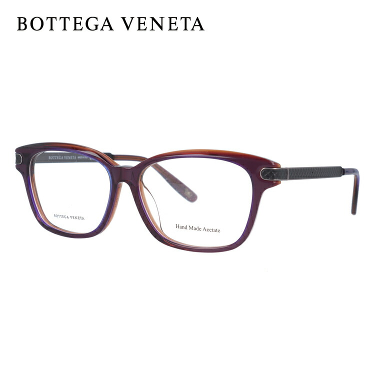 ボッテガヴェネタ メガネ フレーム 眼鏡 BV295F CSE 53サイズ 度付きメガネ 伊達メガネ ブルーライト 遠近両用 老眼鏡 アジアンフィット スクエア 新品 【BOTTEGA VENETA】 【正規品】