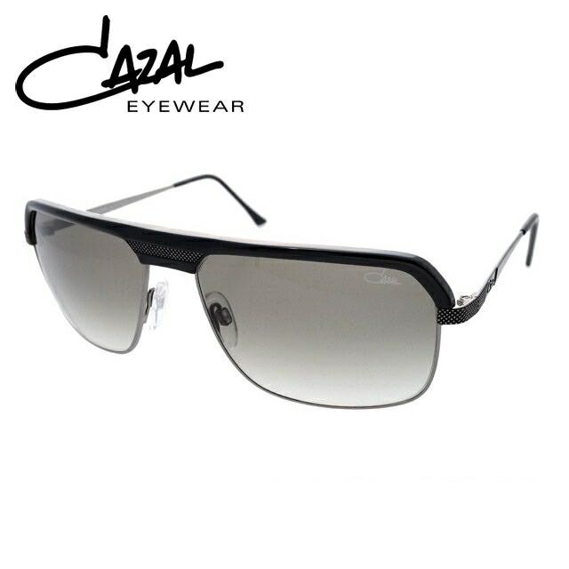 カザール サングラス 度付き対応 MOD.9040-001 ブラック&ガンメタル/グレーグラデーション レディース メンズ UVカット 紫外線対策 新品 【CAZAL】
