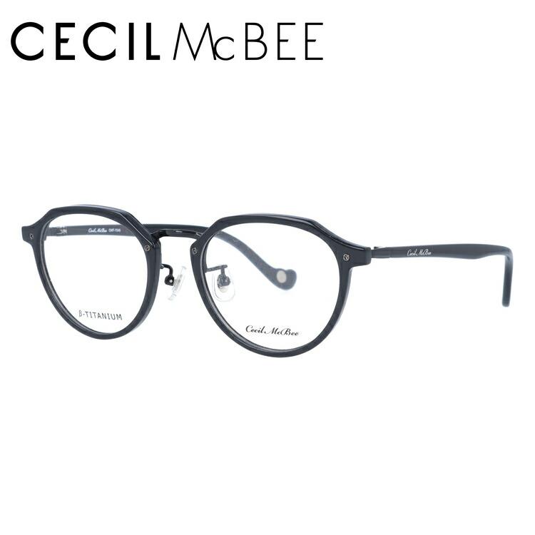 セシルマクビー メガネ フレーム 0円レンズ対象 CMF 7046-1 49サイズ ボストン レディース 伊達メガネ 度付メガネ 新品 【CECIL McBee】