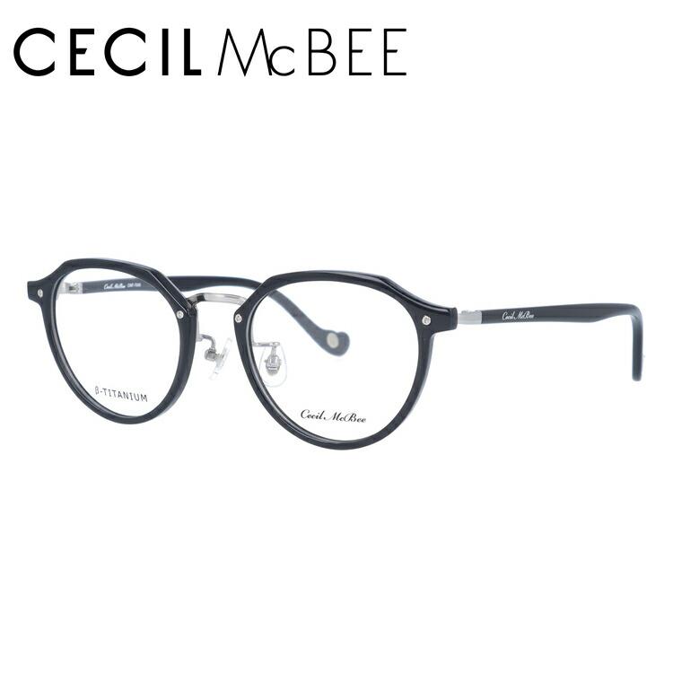 セシルマクビー メガネ フレーム 0円レンズ対象 CMF 7046-3 49サイズ ボストン レディース 伊達メガネ 度付メガネ 新品 【CECIL McBee】