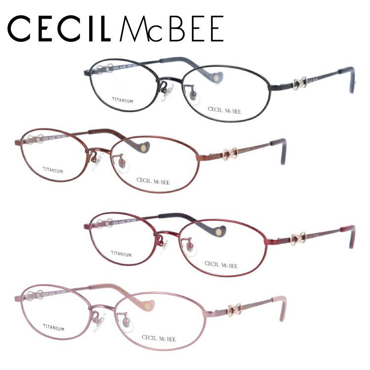 セシルマクビー メガネ フレーム 0円レンズ対象 CMF3033 全4カラー 52サイズ オーバル レディース 伊達メガネ 度付メガネ 新品 【CECIL McBee】