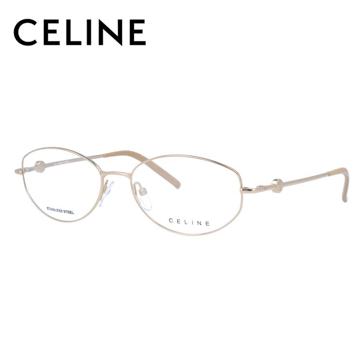 【伊達・度付きレンズ無料】セリーヌ メガネ フレーム 眼鏡 VC1244 54サイズ 0300 度付きメガネ 伊達メガネ ブルーライト 遠近両用 老眼鏡 レディース ラウンド 新品 【CELINE】