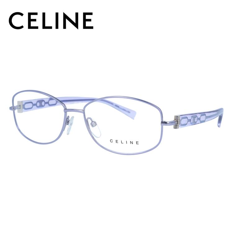 【伊達・度付きレンズ無料】セリーヌ メガネ フレーム 眼鏡 VC1307M 54サイズ 0S53 度付きメガネ 伊達メガネ ブルーライト 遠近両用 老眼鏡 レディース ラウンド 新品 【CELINE】
