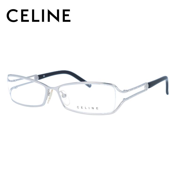 【伊達・度付きレンズ無料】セリーヌ メガネ フレーム 眼鏡 VC1309S 54サイズ 0579 度付きメガネ 伊達メガネ ブルーライト 遠近両用 老眼鏡 レディース ハーフリム スクエア 新品 【CELINE】