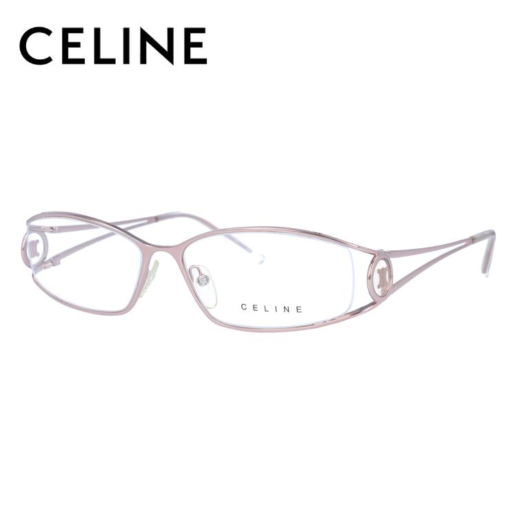 【伊達・度付きレンズ無料】セリーヌ メガネ フレーム 眼鏡 VC1359M 56サイズ 0SBN 度付きメガネ 伊達メガネ ブルーライト 遠近両用 老眼鏡 レディース ハーフリム スクエア 新品 【CELINE】