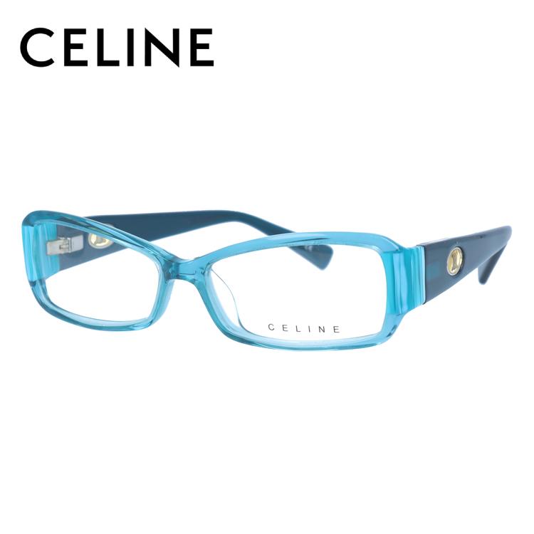 【伊達・度付きレンズ無料】セリーヌ メガネ フレーム 眼鏡 VC1611M 53サイズ 09DP 度付きメガネ 伊達メガネ ブルーライト 遠近両用 老眼鏡 レディース スクエア 新品 【CELINE】