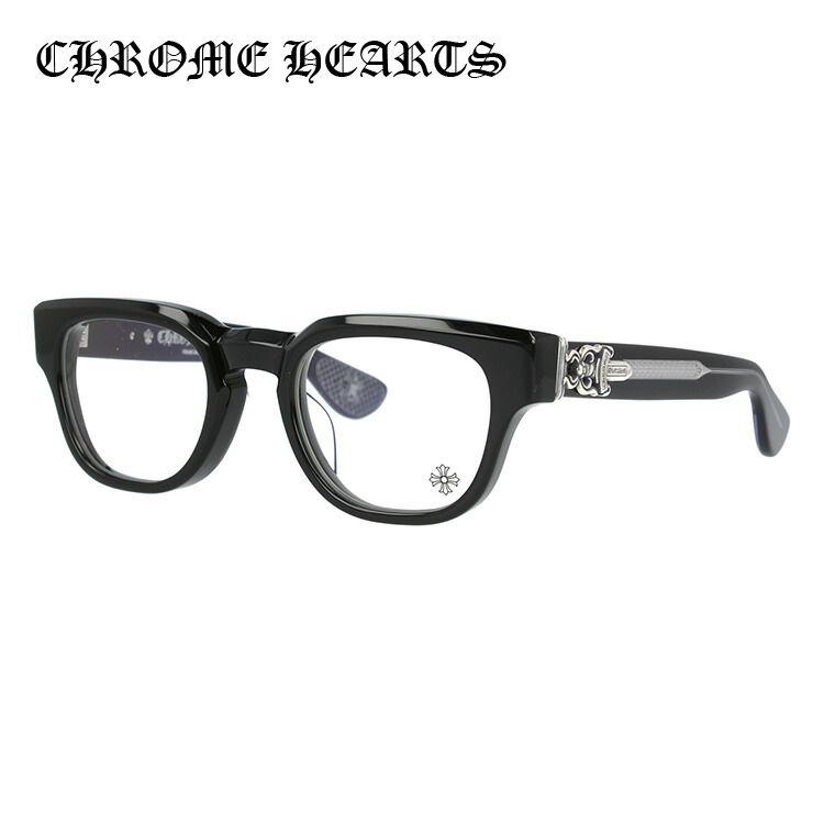 クロムハーツ メガネ フレーム 眼鏡 CUNTVOLUTED BK 49サイズ 度付きメガネ 伊達メガネ ブルーライト 遠近両用 老眼鏡 メンズ レギュラーフィット ウェリントン 新品 【CHROME HEARTS】 【正規品】