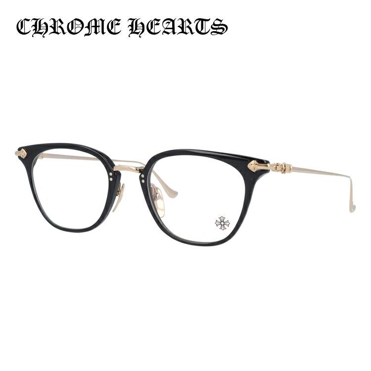 【送料無料】 クロムハーツ メガネ フレーム 眼鏡 SHAGASS BK-GP 51サイズ 度付きメガネ 伊達メガネ ブルーライト 遠近両用 老眼鏡 メンズ レディース ユニセックス ウェリントン 新品 【CHROME HEARTS】