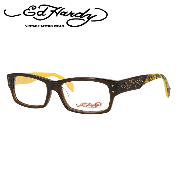 メガネ 度付き 伊達 PCメガネ 老眼鏡 遠近両用 ミラー 調光 カラーレンズ 各種対応。エドハーディの眼鏡を自分仕様にカスタマイズ【ギフトラッピング無料】 【SS対象】 【送料無料】 エドハーディー メガネ フレーム 眼鏡 EHOA015 2 度付きメガネ 伊達メガネ ブルーライト 遠近両用 老眼鏡 メンズ ブラウン スクエア 新品 【EdHardy】