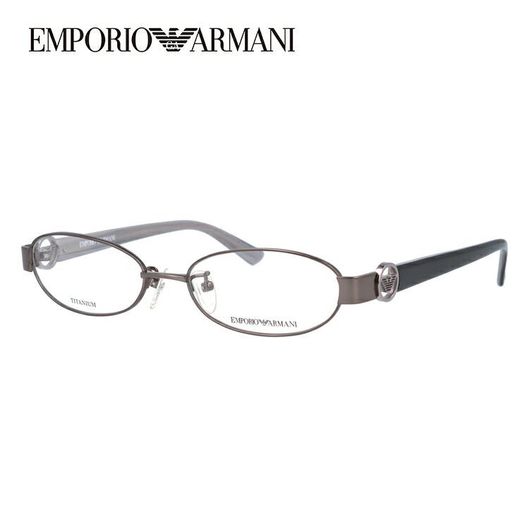 メガネ 度付き 伊達 PCメガネ 老眼鏡 遠近両用 ミラー 調光 カラーレンズ 各種対応。アルマーニの眼鏡を自分仕様にカスタマイズ【ギフトラッピング無料】 エンポリオアルマーニ メガネフレーム EMPORIO ARMANI 度付き 度なし 伊達 だて 眼鏡 メンズ レディース EA1129J KJ1 52サイズ チタン/オーバル UVカット 紫外線