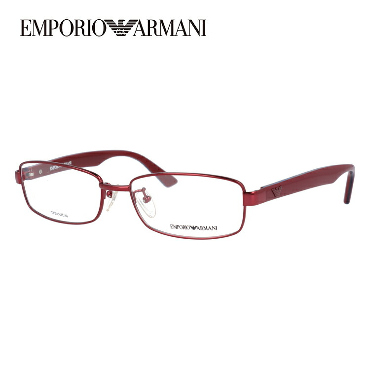 メガネ 度付き 伊達 PCメガネ 老眼鏡 遠近両用 ミラー 調光 カラーレンズ 各種対応。アルマーニの眼鏡を自分仕様にカスタマイズ【ギフトラッピング無料】 エンポリオアルマーニ メガネフレーム EMPORIO ARMANI 度付き 度なし 伊達 だて 眼鏡 メンズ レディース EA1140J P29 54サイズ チタン スクエア 【スクエア型】 UVカット 紫外線