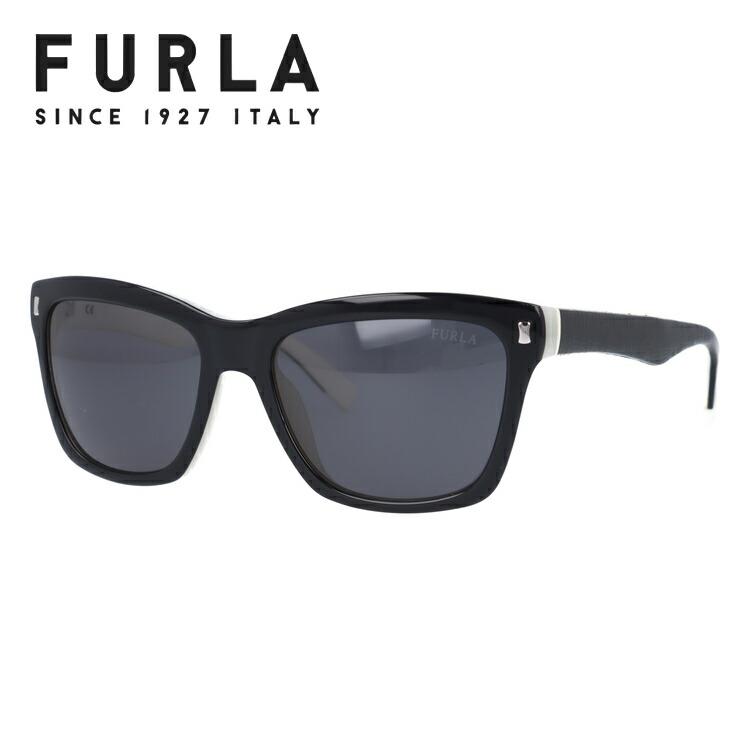 フルラ FURLA サングラス SU4835 09H1 55 ブラック/ホワイト【レディース】 【ウェリントン型】 UVカット