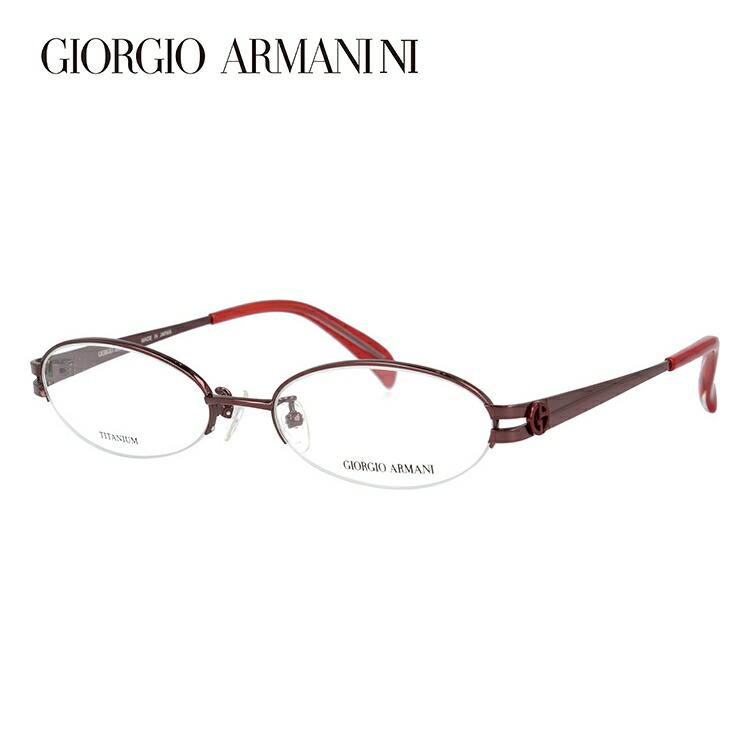 メガネ 度付き 伊達 PCメガネ 老眼鏡 遠近両用 ミラー 調光 カラーレンズ 各種対応。アルマーニの眼鏡を自分仕様にカスタマイズ【ギフトラッピング無料】 GIORGIO ARMANI ジョルジオ アルマーニ 伊達メガネ 眼鏡 GA2673J NB5 51サイズ チタン ハーフリム オーバル