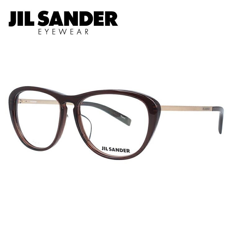 【伊達・度付きレンズ無料】ジルサンダー メガネ フレーム 眼鏡 J4013-C 53サイズ 度付きメガネ 伊達メガネ ブルーライト 遠近両用 老眼鏡 レディース レギュラーフィット 【JIL SANDER】
