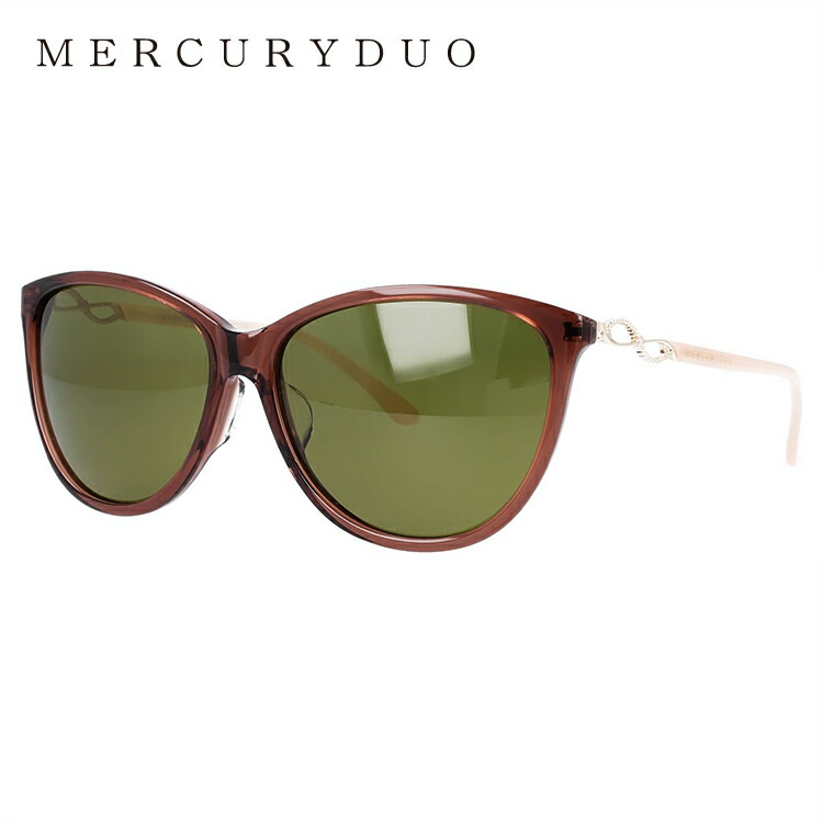 マーキュリーデュオ サングラス アジアンフィット MERCURYDUO MDS 9015-2 58サイズ フォックス レディース