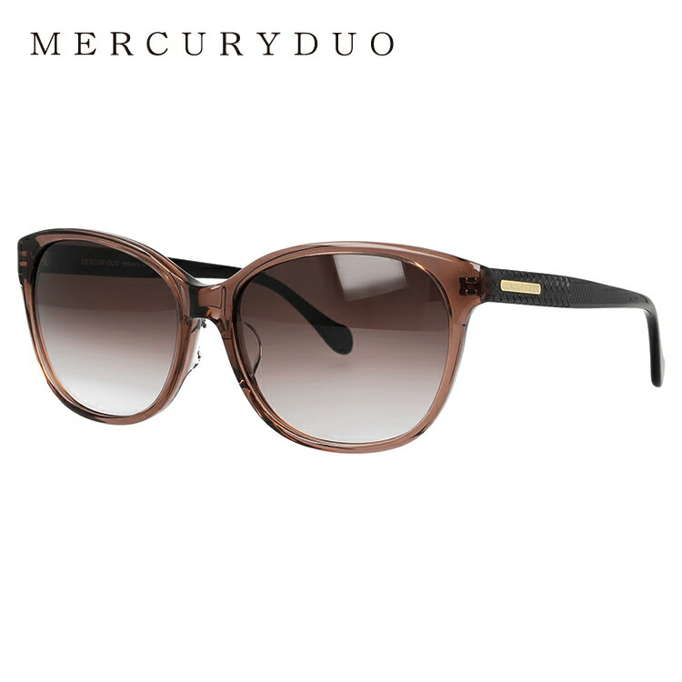 マーキュリーデュオ サングラス アジアンフィット MERCURYDUO MDS 9019-2 57サイズ フォックス レディース